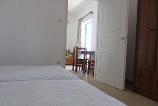 accommodation naxos studios pyrgaki twin beds